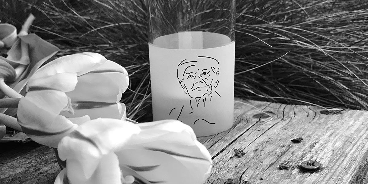 Glas met tulp