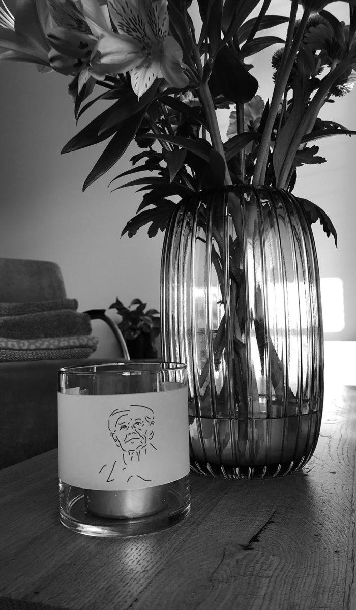 vaas met lichtje