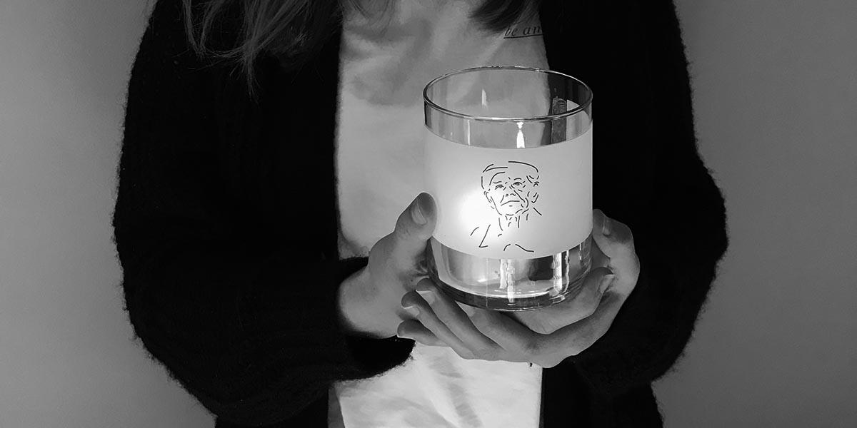 Meisje met glas